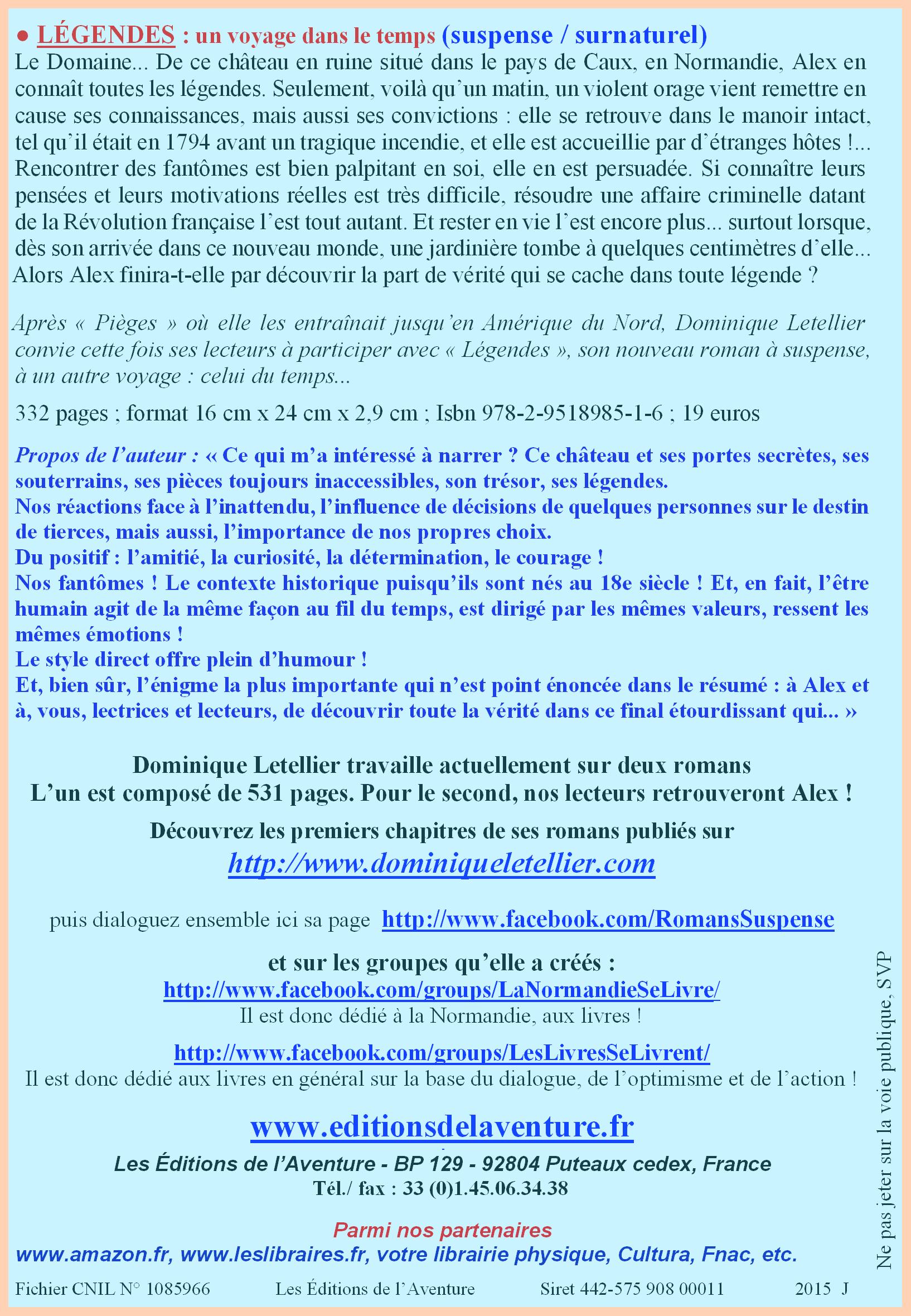 Dominique Letellier au 5e Salon du Polar de Franqueville Saint-Pierre le dimanche 15 novembre 2015 FranquevillePtFormatVerso